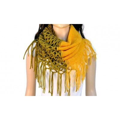 Infinity Tassels Scarf - Yellow Color