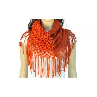 Infinity Tassels Scarf - Red Color