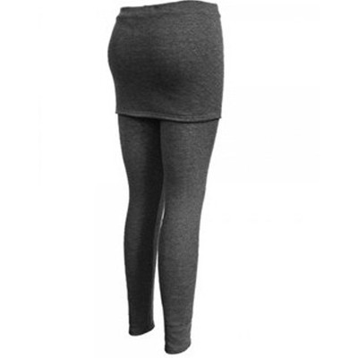 2-in-1 Skirt Legging - Gray Color