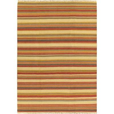 """eCarpetGallery Flat-weave Kaleidoscope Cream Kilim - 6'7"""" x 9'2"""""""