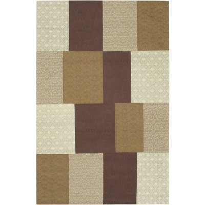 "eCarpetGallery Handmade Collage Brown Rug - 5'0"" x 8'0"""