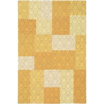 "eCarpetGallery Handmade Collage Yellow Rug - 5'0"" x 8'0"""