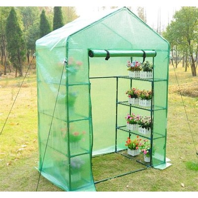 4.6' x 2.5' Greenhouse with Shelves