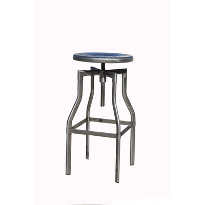INDY-ADJ. STOOL-DISTRESSED GUNMETAL