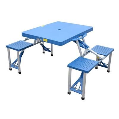 Junior Portable Picnic Table - Blue