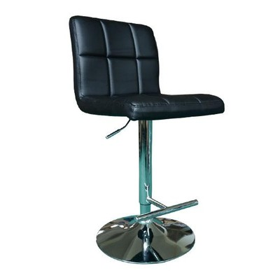 Black Padded Square Bar Stools - Set of 2