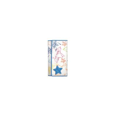 Mascalzone Latino Lapi Eco-Leather Lady's Wallet Stars - White & Blue