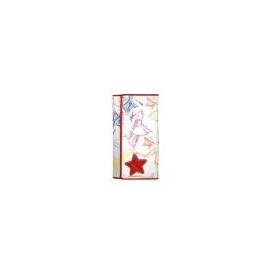 Mascalzone Latino Lapi Eco-Leather Lady's Wallet Stars - White & Red