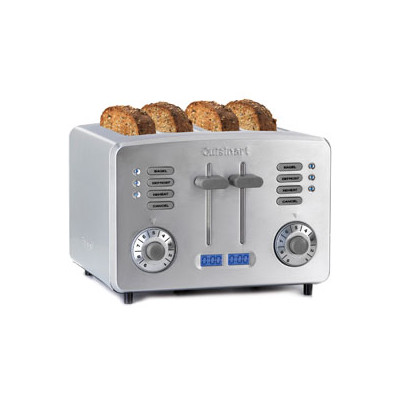 Cuisinart-Refurbished RBT390PC1C Metal 4 Slice Toaster-Manufacturer Recertified with 90 days Warranty