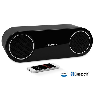 Fluance FI30 High Performance Wireless Bluetooth Wood  Speaker System with aptX Enhanced Audio (Piano Black) (061783257159)