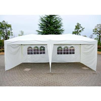 10' x 20' Gazebo Pop-Up Tent - Cream