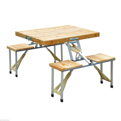 Junior Portable Picnic Table - Wood