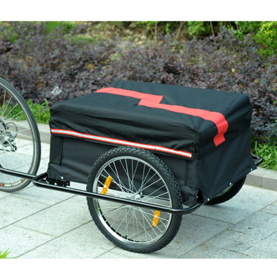 Bicycle Cargo Trailer - Black/Red