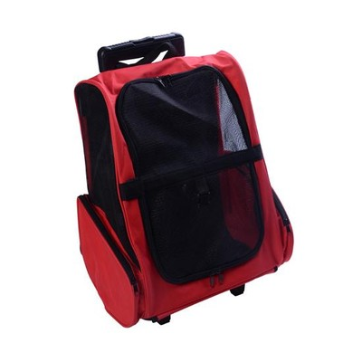 Rolling Backpack Per Carrier - Red