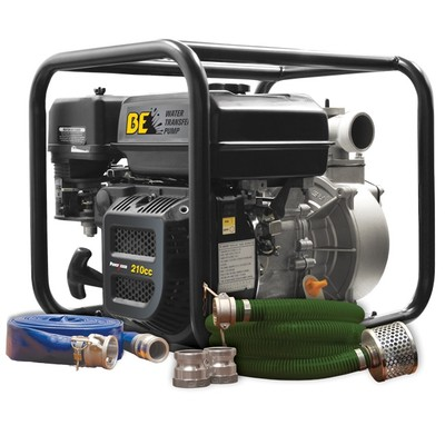 BE WPK-2065CM 2-inch 158-GPM Gasoline Water Transfer Pump Kit with Hoses & Fittings