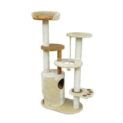 "55"" Cat Tree Scratching Post with Paw"