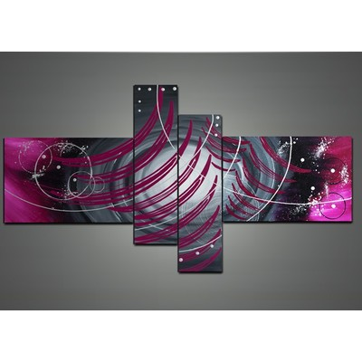 Modern Abstract Wall Art Painting- 64 x 34 in