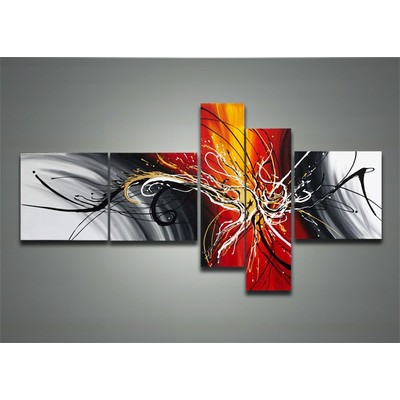 Hand Painted Contemporary Art-66 x 32in
