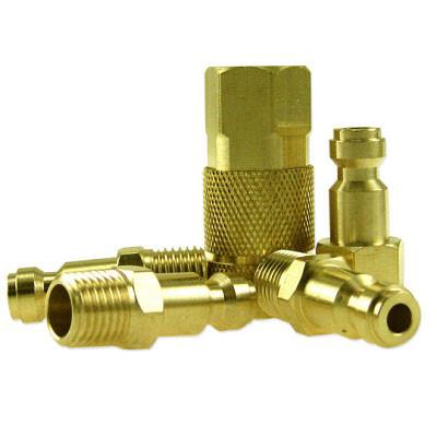 Neiko 5-Piece 1/4-inch 'T' Type Brass Coupler Set