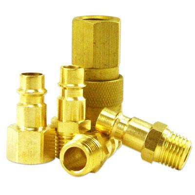 Neiko 5-Piece HI-FLO Brass Coupler Set