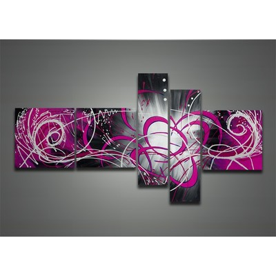 Contemporary Wall Art Purple Painting-  66 x 36 in