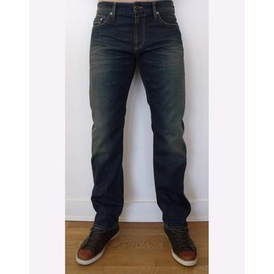 Mavi Jeans ZACH MIDRISE SLIM RUSTIC WHITE EDGE IN DARK