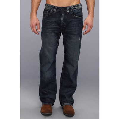 Buffalo Jeans TRAVIS MIDRISE LOOSE FIT IN DARK VINTAGE WASH