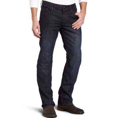 Buffalo Jeans DRIVEN MIDRISE STRAIGHT LEG IN COATED DARK