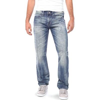 Buffalo Jeans EVAN LOWSIRE SLIM IN MEDIUM BLUE BLASTED