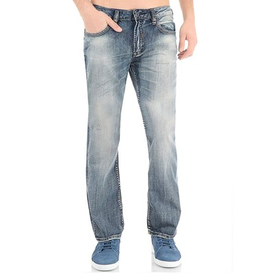 Buffalo Jeans DRIVEN MIDRISE WITH BACK FLAP POCKET IN DIRTY MED BLUE