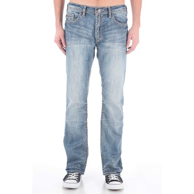 Buffalo Jeans GAME X MIDRISE BOOTCUT WITH HEAVY STITCH IN LIGHT VINTAGE
