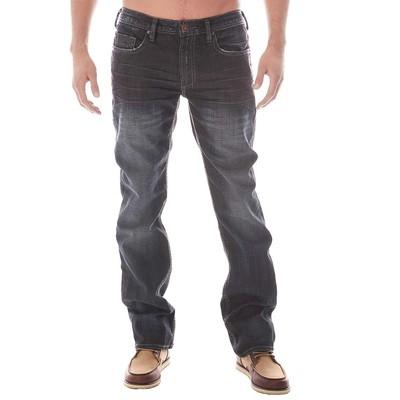 Buffalo Jeans DRIVEN MIDRISE STRAIGHT LEG IN MERCER DARK & LIGHT SANDED