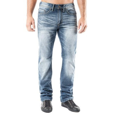 Buffalo Jeans GAME LOWRISE BOOTCUT LUCAS BLUE SANDED AND FADED