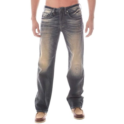 Buffalo Jeans TRAVIS X MIDRISE LOOSE FIT SENECA WORKED IN STONE WASH