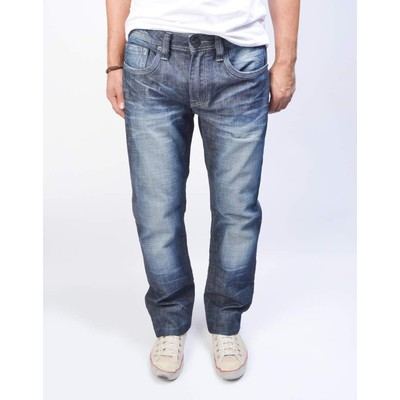 Buffalo Jeans EVAN X LOWRISE SLIM SANDED AND BRUSH IN COMMERCIAL WASH