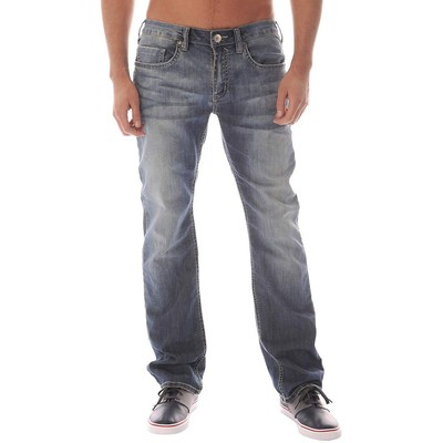 Buffalo Jeans DRIVEN X MIDRISE STRAIGHT LEG NEW VENTURA CRINKLED AND SAND