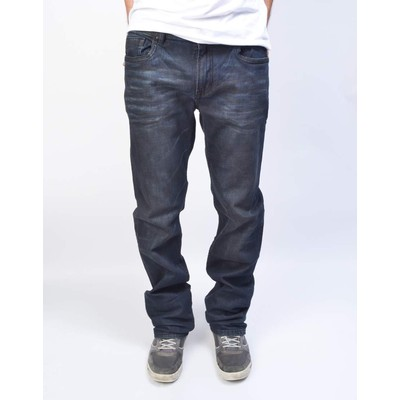 Buffalo Jeans DRIVEN MIDRISE STRAIGHT LEG IN RINSE OIL STAIN