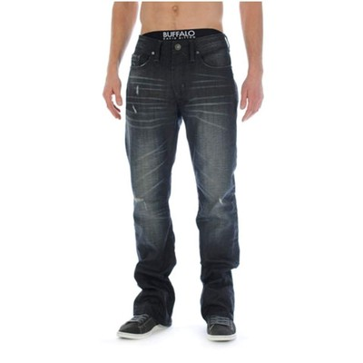 Buffalo Jeans GAME MIDRISE STRAIGHT BACK FLAP IN BLACK