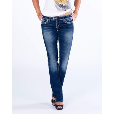 Silver Jeans TUESDAY LOWRISE BABY BOOTCUT IN DARK WASH