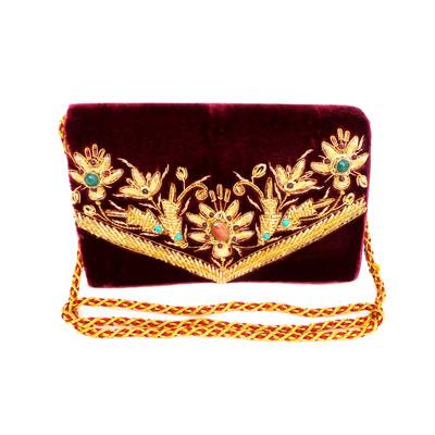 Burgundy Shoulder/Crossbody Handbag