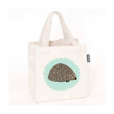 UK design fairtarde mini tote - mr. hedgehog