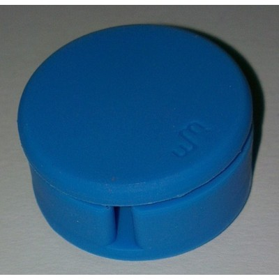 Earphone Cable Winder with Screen Cleaner - Blue