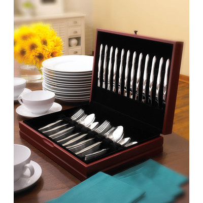 60 Piece Stainless Steel Place Settings in Free Chest - Service for 12