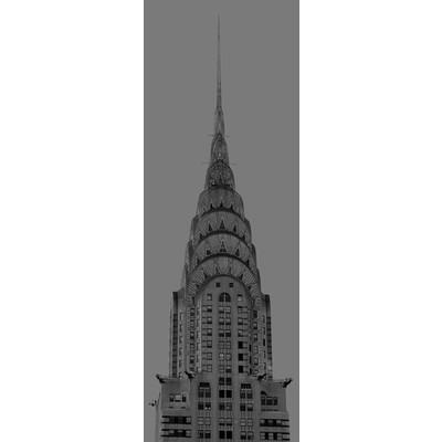 Jp london md4a142 new york city chrysler building tonal for Chrysler building wall mural