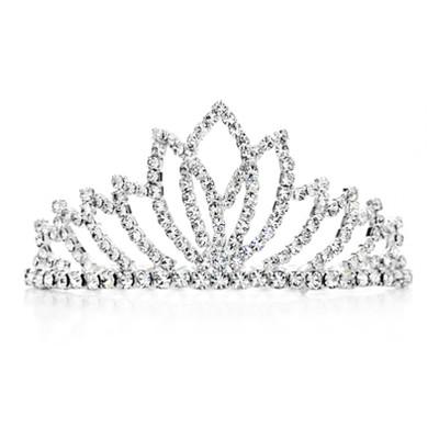 Platinum Plated Auden Rhinestones Hairwear Tiara