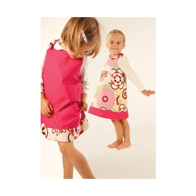 Binksy and Bobo Reversible Tie Dress - Kleo w/Pomegrante