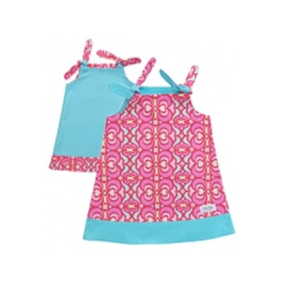Binksy and Bobo Reversible Tie Dress - Sabrina w/Teal