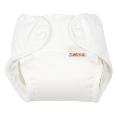 Imse Vimse All-in-One diaper (2-pack) - White - newborn