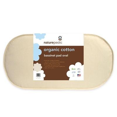 Naturepedic Bundle - Oval Bassinet Mattress + Flat Waterproof Pad + Fitted Sheet