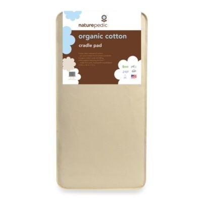 Naturepedic Bundle - Cradle Mattress + Flat Waterproof Pad + Fitted Sheet